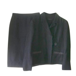 Prada Black Skirt Suit