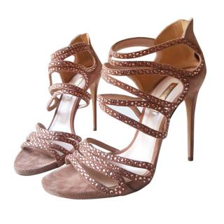Casadei Swarovski Crystal Embellished Sandals