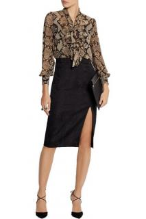 Raoul Python Print Pussy Bow Blouse