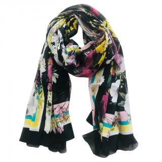 Dolce & Gabbana silk floral scarf wrap
