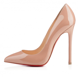 Christian Louboutin Nude Pigalle Patent Calf 120 Pumps