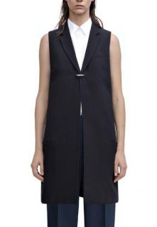 Acne Studios 'florin' Sleeveless Crepe Jacket