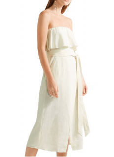 Vix Paula Hermanny Ruffled linen-blend voile midi dress