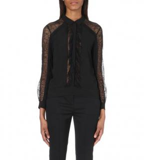 The Kooples Lace Insert Black Crepe Too