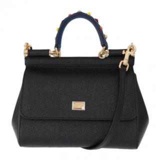 Dolce & Gabbana black small Sicily bag