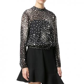 Red Valentino black Sheer star print blouse