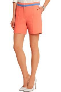 Roksanda neon wool-crepe silk shorts
