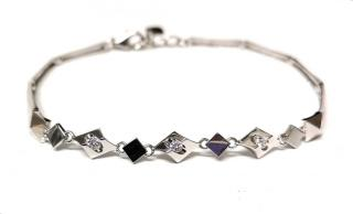 Lukfook Diamond Tension Bracelet 18ct White Gold