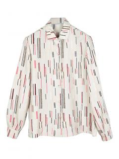Prada abstract print silk relaxed fit shirt