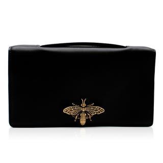 Christian Dior Black Calfskin Bee Pochette
