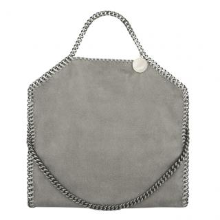 Stella McCartney Light Grey Falabella Shaggy Deer Tote
