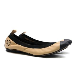 Chanel Leather Elasticated Ballerinas