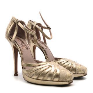 Giambattista Valli Lace & Leather Sandals