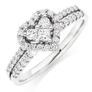 Beaverbrooks Heart Shaped Diamond Ring