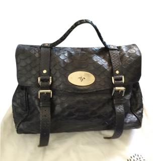 Mulberry Large Croc Alexa Satchel Bag