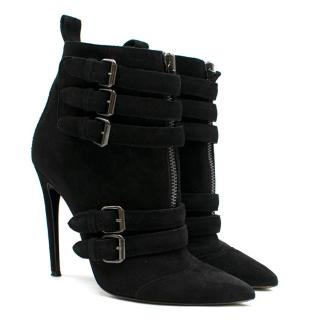 Tabitha Simmons Black Suede Heeled Ankle Boots