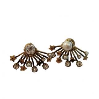 Dior Crystal & Pearl Scatter Earrings