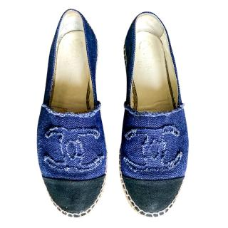 Chanel denim espadrilles