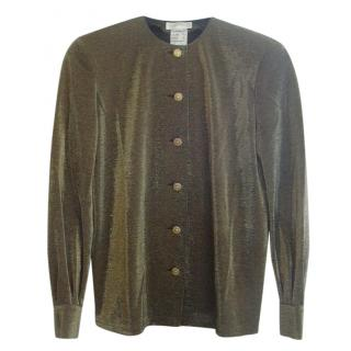 Nina Ricci Gold Metallic Blouse