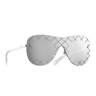 20898f506d2f Chanel Shield Runway Mirrored Sunglasses