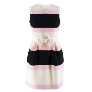 Valentino Candy Striped Wool & Silk-blend Dress