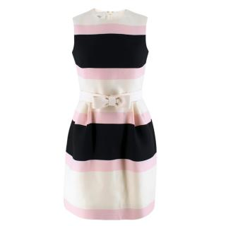 Valentino Candy Striped Wool & Silk-blend Dress