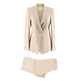 Armani Collezioni Beige Blazer & Trousers Set