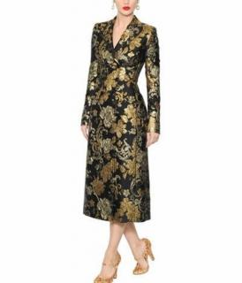 Dolce & Gabbana Double Breasted Brocade & Organza Coat