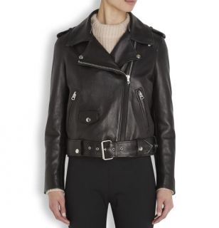 Acne Studios Mape Black Leather Jacket