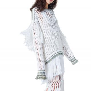 Sonia Rykiel Fishnet fringed sweater