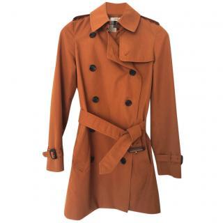 Burberry Burnt Orange Trench Coat