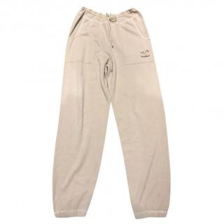 Chanel Beige & Gold Cashmere Joggers