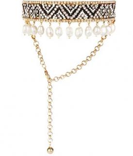 Shourouk Pearl Choker Necklace