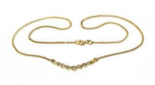 Bespoke 0.40ct Diamond Necklace Yellow Gold