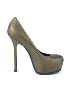 Yves Saint Laurent Gold Tribtoo Pumps