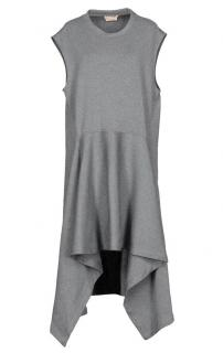 Marni grey sleeveless asymmetric wool dress