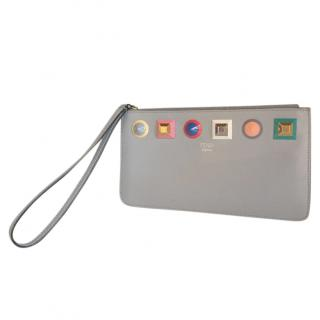 Fendi Wristlet - Lilac with Rainbow Studs