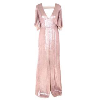 Temperley Sequin Blush Gown