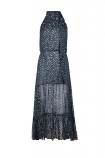 Rixo Navy 'Elenor' Polka dot dress