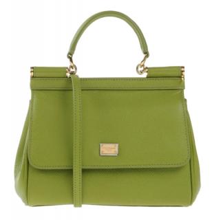 Dolce & Gabbana Pistachio leather medium miss sicily bag