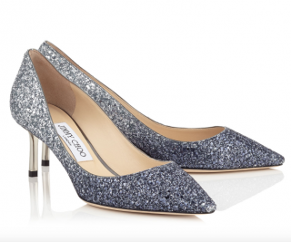 Jimmy Choo Romy 60 Coarse Glitter Degrad� Pointy Toe Pumps