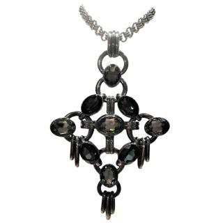 Dyrberg/Kern crystal pendant necklace