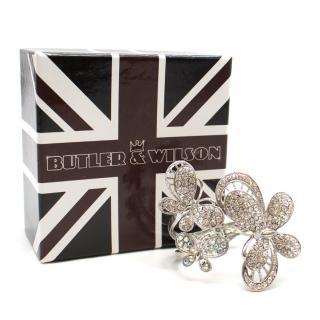 Butler & Wilson Silver Butterfly Cuff