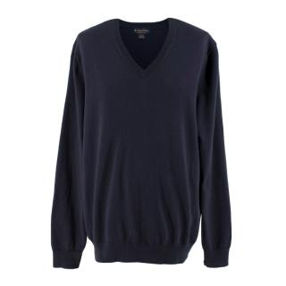 Brooks Brothers Navy Knit Jumper