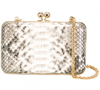 Sophie Hulme Python Box Clutch Bag