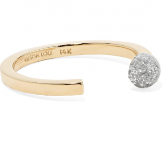 Alison Lou 14K Gold Match Stack Ring