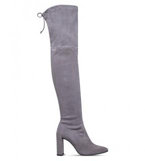 Stuart Weitzman Funland Taupe suede over-the-knee boots