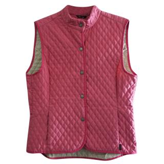 Barbour Pink Quilted Fulbourn Gilet