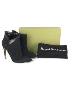 Rupert Sanderson Black Suede Ankle Boots