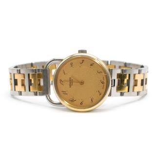 Hermes Arceau Gold  Plated Steel Two-tone Watch